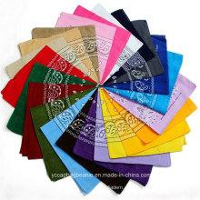 Venda quente multi cores paisley impresso bandanas de algodão por atacado