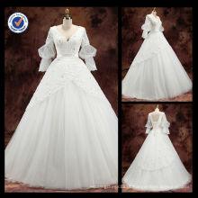 2016 atacado elegante meia luva de uma linha vestido de noiva vestido de noiva