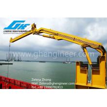 Mini Crane Semi-knuckle Boom crane used on Yacht