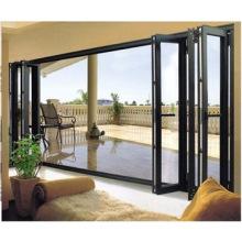 Woodwin Good Quality Thermal Break Aluminum Tempered Glass Folding Door