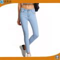 Moda feminina Slim Legging Jeans Skinny Jeans Algodão Spandex Denim Jeans