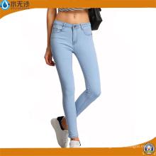 Damenmode Slim Legging Jeans Röhrenjeans Baumwolle Spandex Denim Jeans