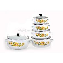Ebay kitchenware Supplier top selling enamel saladmaster cookware