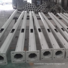 Factory direct supply hot dip galvanized street steel round conical light pole price