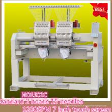HOLiAUMA 8 pouces DAHAO System 2 Head 15 Needles Machine à broder informatisée à usage commercial et industriel