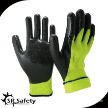 7G Nappy Acrylic Liner Coated Smooth Finished Gloves/ Knitted Nitrile Coating Glove/Working Glove