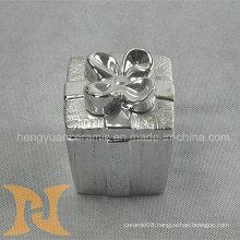 Box Shape Electroplating Ceramic, Trinket Box (Home Decoration)