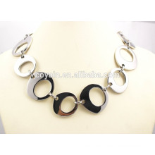 316L stainless long silver surgical steel big wide chain link necklace