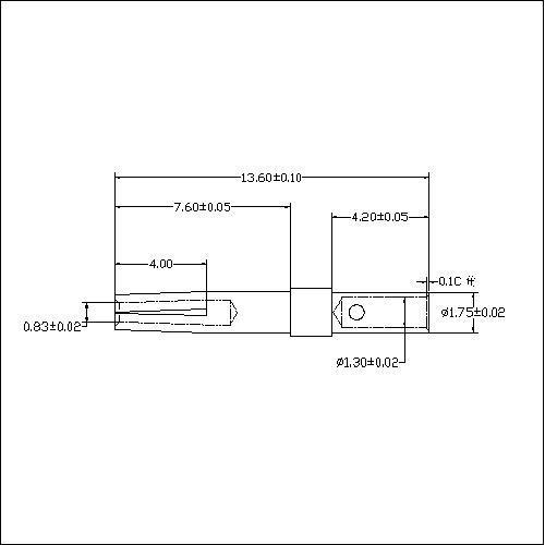 HDCT02-FX D-SUB 1.0 Crimp Terminal Female Connector Machine PIN Series