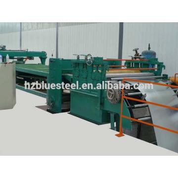 Machine de coupe à longueur de ligne pour la plaque de bobine métallique en acier, machine de cisaillement à plaques de bobines