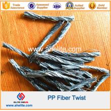Fibra de polipropileno PP fibra de torsión fibra macro 19 mm 48 mm 54 mm