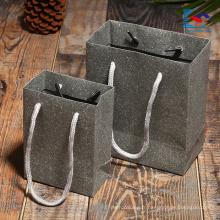 sacs de luxe en papier spécial logo imprimé avec poignée torsadée