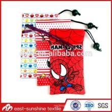 Pochette à lunette à cordon en microfibre, 80% polyester et 20% en polyamide Microfibre sacoche à lunettes 3d