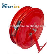 bobine de tuyau d'incendie / tuyau d'incendie bobine moulinet en acier inoxydable / bobine de tuyau d'incendie avec 30 mètres de tuyau