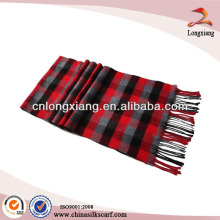 Brushed Bright Thick Wool Plaid Scarf