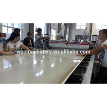wood plastic construction board, furniture and decking board wpc board machine line
