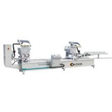 Máquina de corte de dupla cabeça de perfil de alumínio-plástico