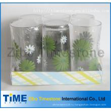 9 унций печать Деколи питьевой стеклянный стакан комплект (TM24007-5)