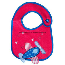 China Factory OEM Produce Customized Design Applique Embroidered Cotton Baby Girl′s Feeder Bibs