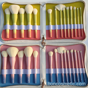 Gradient Color 14pcs Maquillage Pinceaux Outils De Maquillage