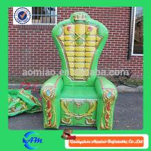 Cadeira de trono inflável cor verde
