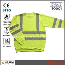 Alta visibilidade mangas compridas modacrílico retardantes de chama T-Shirt