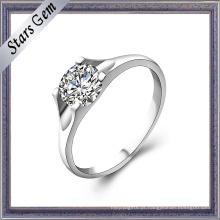 Alta moda mulher stype 925 steling anel de prata