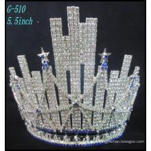 Pageant Casamento Jóias de prata Tiara crianças princesa Tiara Grande Rhinestone a melhor coroa