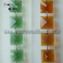 Carré de verre DL13 chaîne de perles de cristal