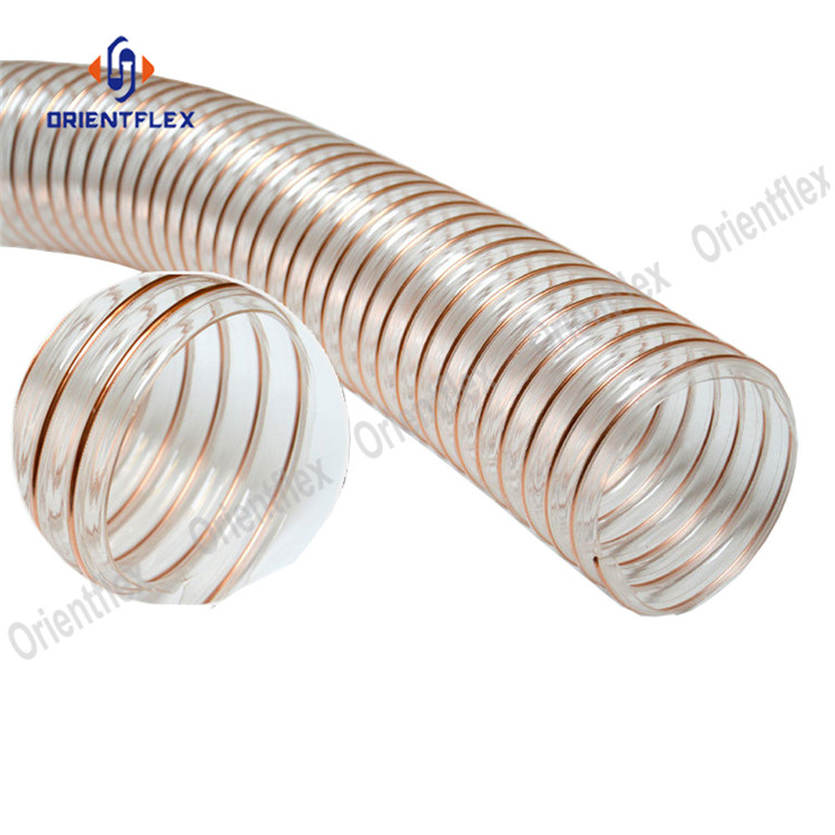 Pu Steel Duct Hose 8