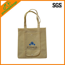 Customized Snap Button Folding Bags with Pocket