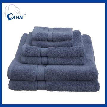 Serviette de bain en coton en couleur solide (QDD5609)