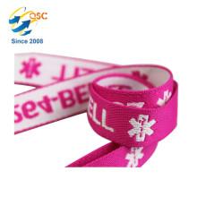 Lanière de jacquard de coton imprimée par logo promotionnel personnalisé par logo usine direct