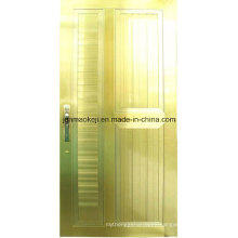 Aluminum Solid Doors in Golden Color