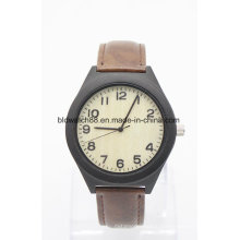Leather Wood Wristwatches OEM Charm Wood Watches with Your Logo