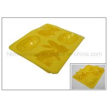 4 células de coelho em forma de molde de bolo de silicone (RS25)