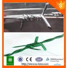 Alibaba lâmina de barbear de arame farpado / single strand pvc fio revestido / pvc revestido arame farpado