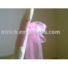 Ленты, ленты из органзы, розовые ленты, украшения кресло ленты