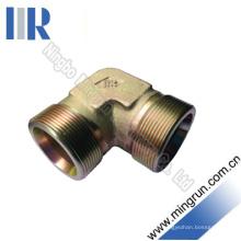 Conector hidráulico do tubo do adaptador masculino métrico de 90 cotovelos (1C9)