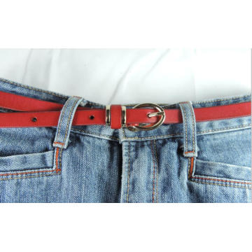 Hot sale thin ladies high quality genuine leather belt