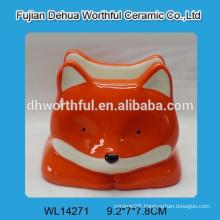 2016 new & simple pink fox design ceramic napkin holder