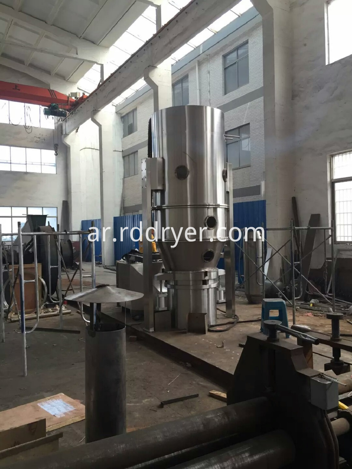 Fluid bed dryer for pharmaceutical, chemical industry