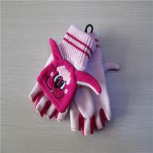 niños cortar cartón dedo guantes de lana