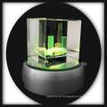 3D gravadas a laser buddilng cristal presentes ofícios de cristal com base conduzido girar