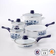яркая эмалированная посуда Кастрюля приготовления лава камень комплект лотка