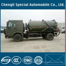 Dongfeng Army Green 4X4 Depósito de aspiración en vacío del camión de aguas residuales