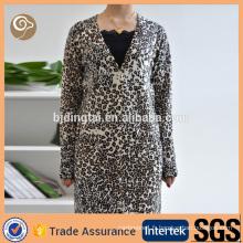Manteau en cachemire en gros imprimé léopard