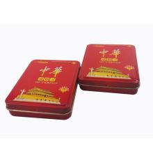 Rectangle Metal Hinged Cigarette Box