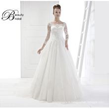 China fornecedores de vestido de noiva com bordados 2016