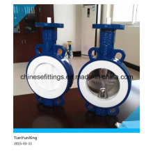 Manual Operated Full PTFE Casting Wafer and Lug Butterfly Valves